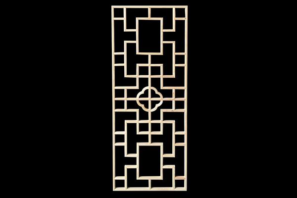 木雕隔断矢量图