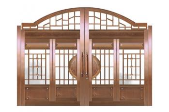 南昌高档字母铜艺门哪里生产-华伟铜门