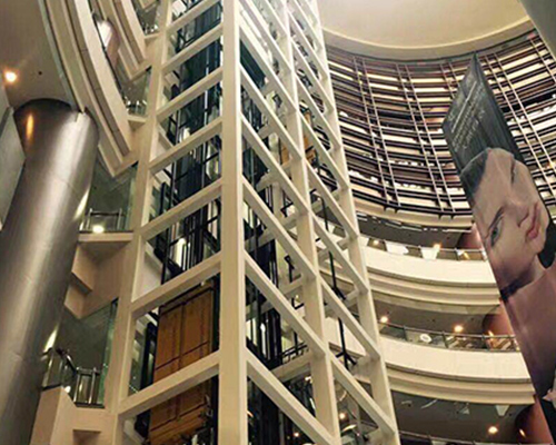 黑河高端菱形观光电梯钢结构井道价格