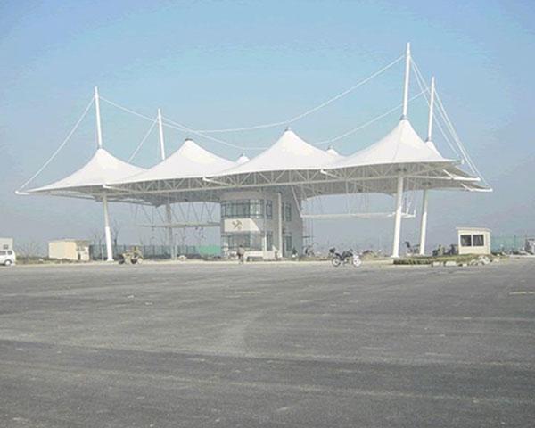 温州定制膜结构推拉篷工程