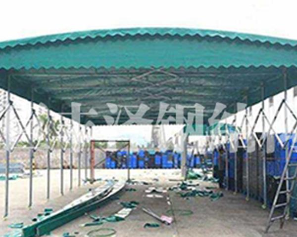 上海定做超大伸缩雨蓬公司-巨丰泽钢结构