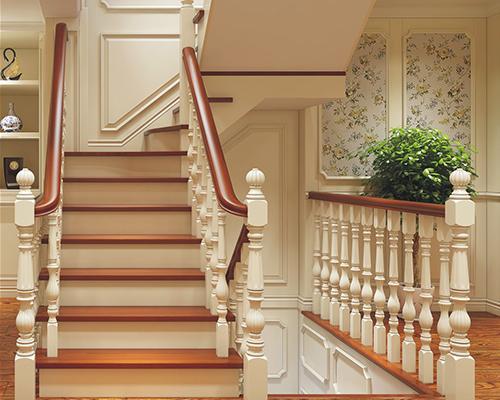 广州优质实木楼梯定做图片