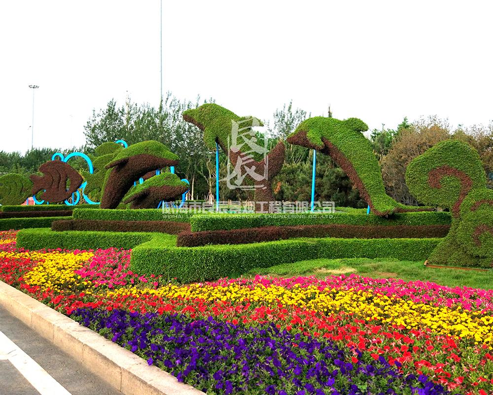 公园摆花设计
