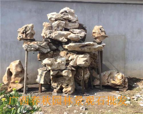黄山河滩石厂家-广西春秋景观石