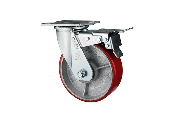 上海定做电动叉车脚轮包胶
