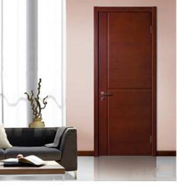 木材原色卧室门装修效果图